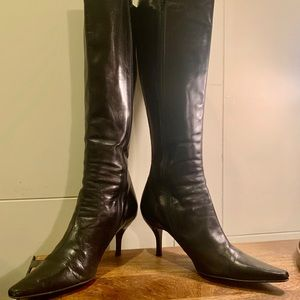 Cole Haan Black Knee High Leather Boots